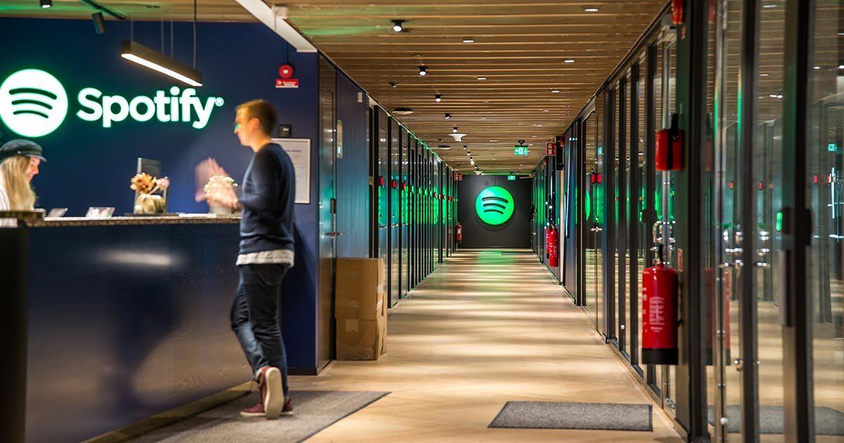 Spotifyn Tukholman toimiston aula.
