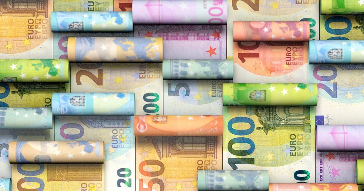 Erilaisia euron seteleitä